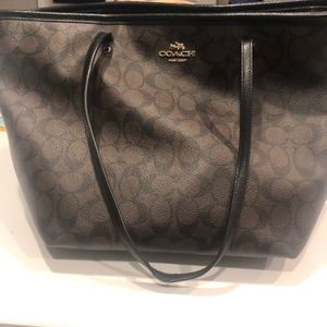 Coach purse black and brown
